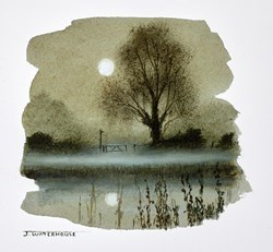 Still Waters Study by John Waterhouse -  sized 5x4 inches. Available from Whitewall Galleries